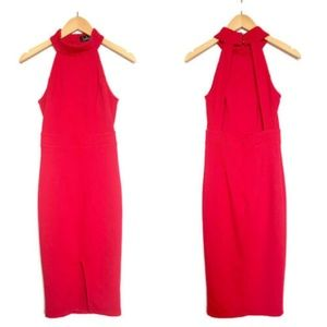 LULUS Outstanding Features Midi Dress Open Back